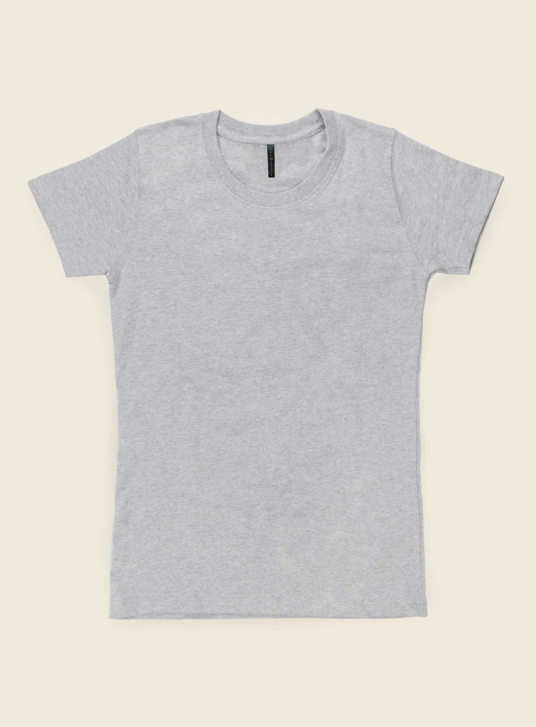 Womens Slimline Grey Marle Tee Shirts + tops Ethical Sustainable Vegan Organic Australian fashion womens clothes