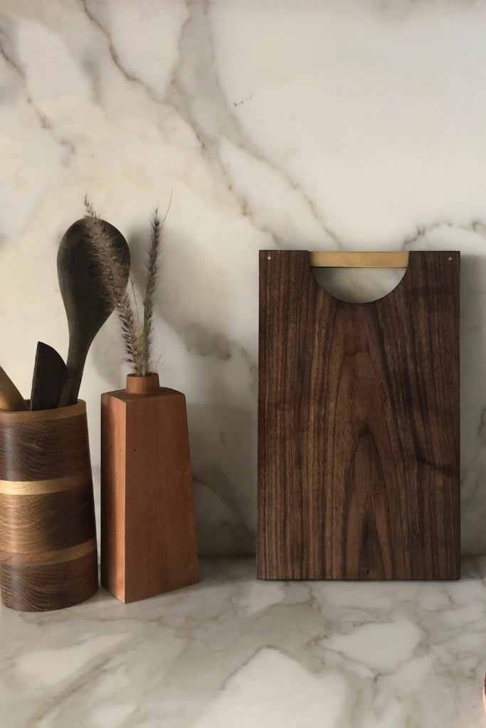 Dark Walnut Chopping Board Kitchen The Fashion Advocate ethical Australian fashion designer boutique Melbourne sustainable clothes