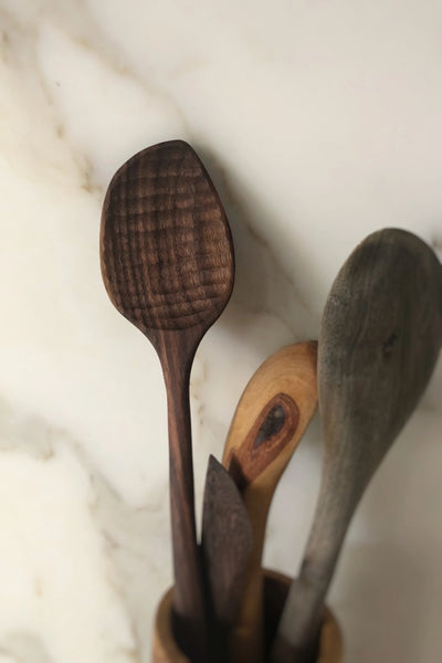 Dark Walnut Cooking Spoon Kitchen The Fashion Advocate ethical Australian fashion designer boutique Melbourne sustainable clothes