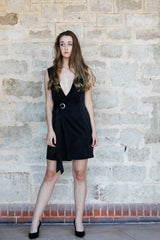 Eyelet Detail Wrap Dress Dresses The Fashion Advocate ethical Australian fashion designer boutique Melbourne sustainable clothes