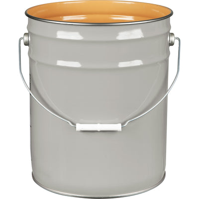 5 Gallon Gray Steel Pail (28/26 Gauge) UN Rated, Gold, Phenolic Lining.