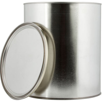 1 Quart Metal Paint Can with Lid, Gray Epoxy Phenolic Lined. No Handles