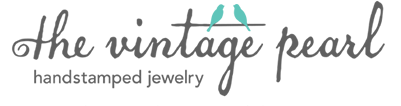 The Vintage Pearl - handstamped jewelry (official logo)