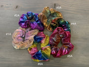 057 CLT Mermaid Iridescent Scrunchies (Front)