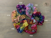 057 CLT Mermaid Iridescent Scrunchies (Back)