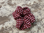 069 CLT Polka Dots Scrunchies (Crimson)