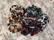 071 CLT Leopard Scrunchies with Color Names