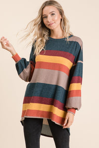 Color Block Stripe Top (Front)