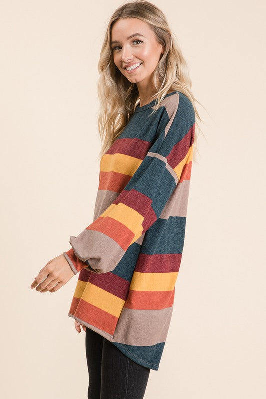 Color Block Stripe Top (Side)