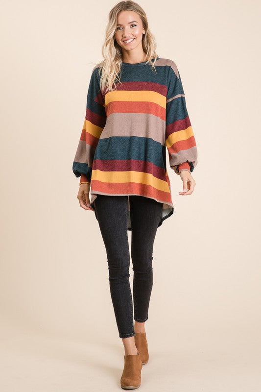 Color Block Stripe Top (Full)