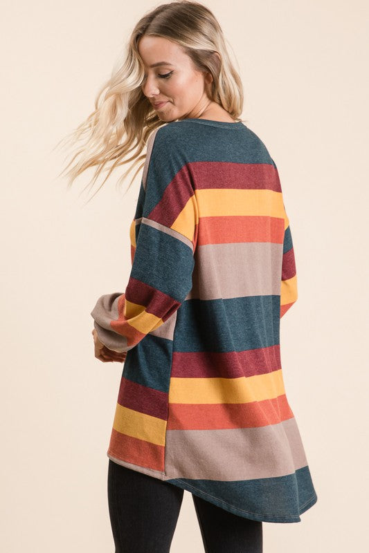 Color Block Stripe Top (Back)