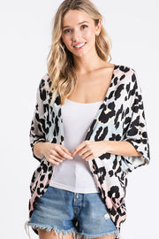Multi Color Leopard Print Cardigan (Front)