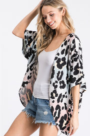Multi Color Leopard Print Cardigan (Side)