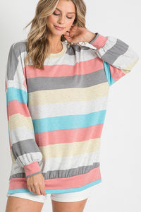 Balloon Striped Top (Front)