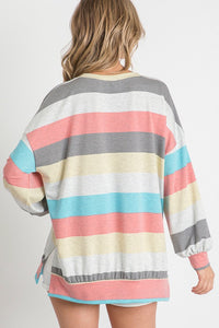 Balloon Striped Top (Back)