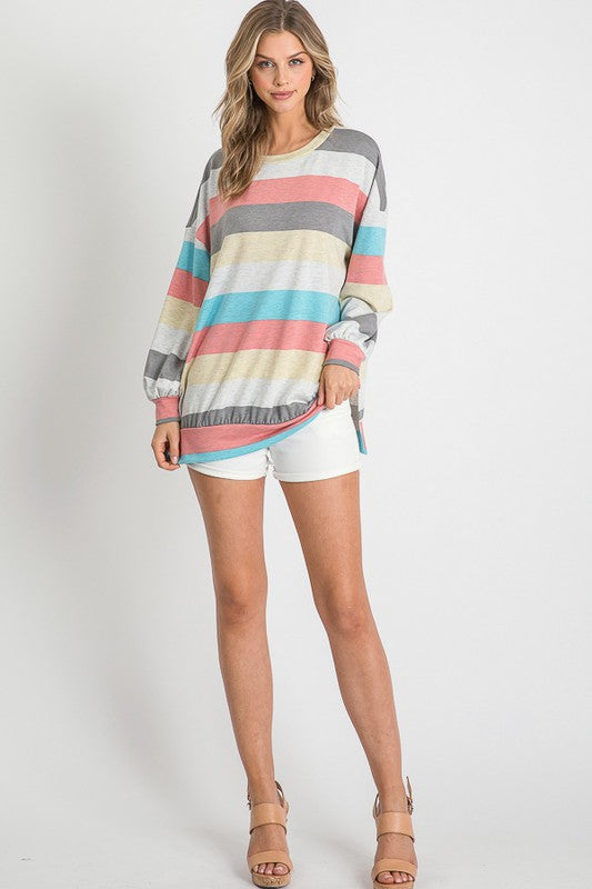 Balloon Striped Top (Full)