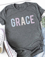 Load image into Gallery viewer, GRACE Graphic Tee (Front)