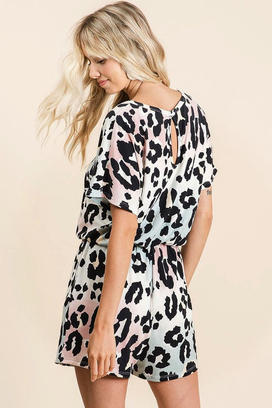 Graduation Leopard Romper (Side)