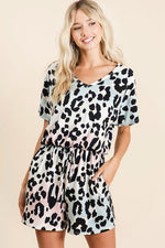 Load image into Gallery viewer, Graduation Leopard Romper (Front)
