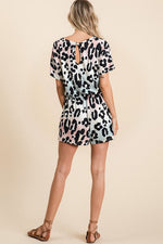 Load image into Gallery viewer, Graduation Leopard Romper (Back)