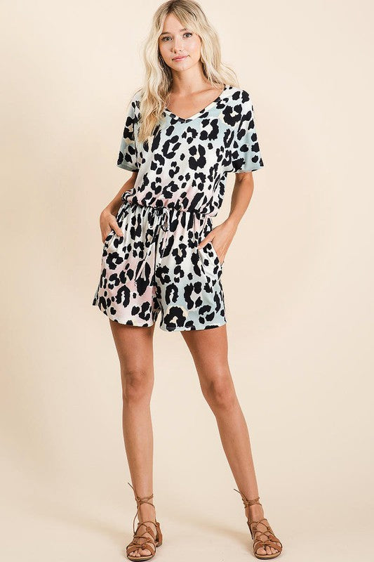 Graduation Leopard Romper (Full)