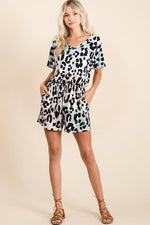 Load image into Gallery viewer, Graduation Leopard Romper (Full)