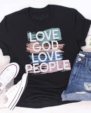 LOVE GOD LOVE PEOPLE Graphic Tee (Front)