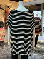Load image into Gallery viewer, Double Heart Striped Top (Back)
