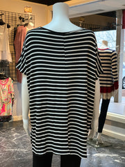 AG SS Double Heart Striped Top (Back)
