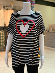 AG SS Double Heart Striped Top (Front)