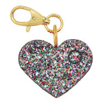 Load image into Gallery viewer, Personal Security Alarm - Glitter Heart (Confetti FRONT)