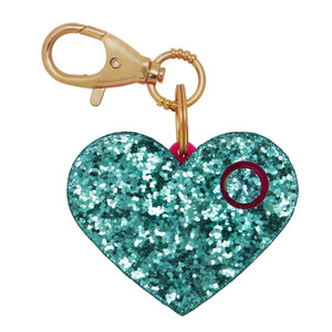 Personal Security Alarm - Glitter Heart (Mint FRONT)