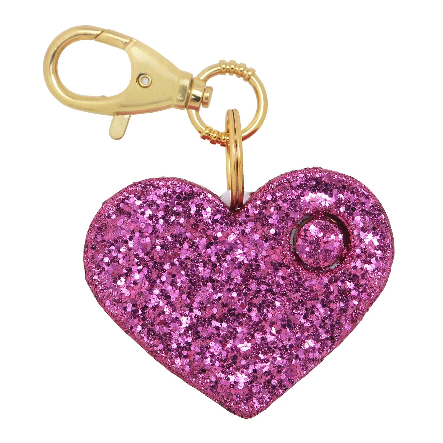 Personal Security Alarm - Glitter Heart (Pink FRONT)