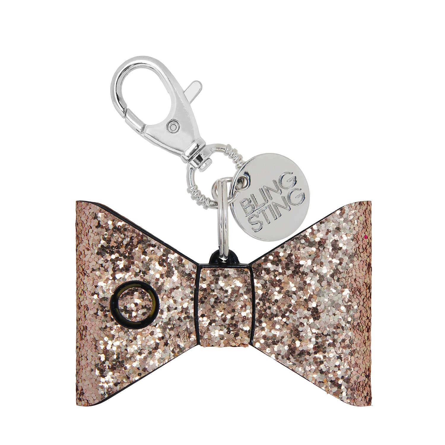 Personal Security Alarm - Glitter Bow (Rose Gold FRONT)