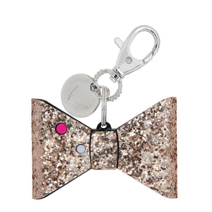 Personal Security Alarm - Glitter Bow (Rose Gold BACK)