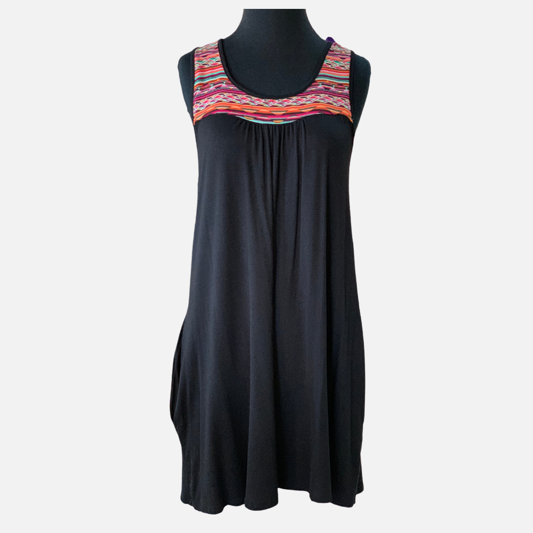 Aztec Print Contrast Dress (Main)