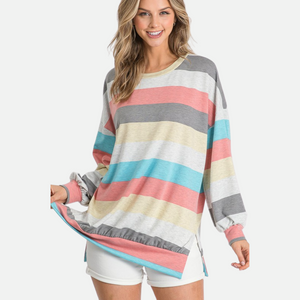 Balloon Striped Top (Main)