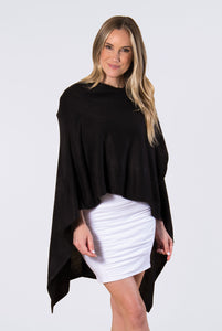 Bordeaux Cardi Wrap - BLACK (Front Side)