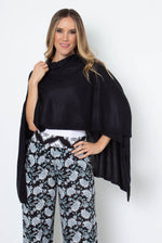 Load image into Gallery viewer, Bordeaux Cardi Wrap - BLACK (Front)