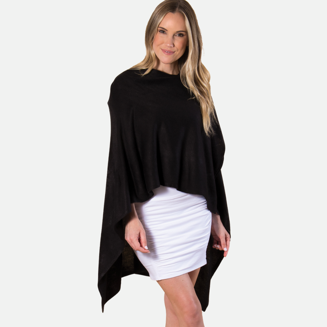 Bordeaux Cardi Wrap - BLACK (Main)