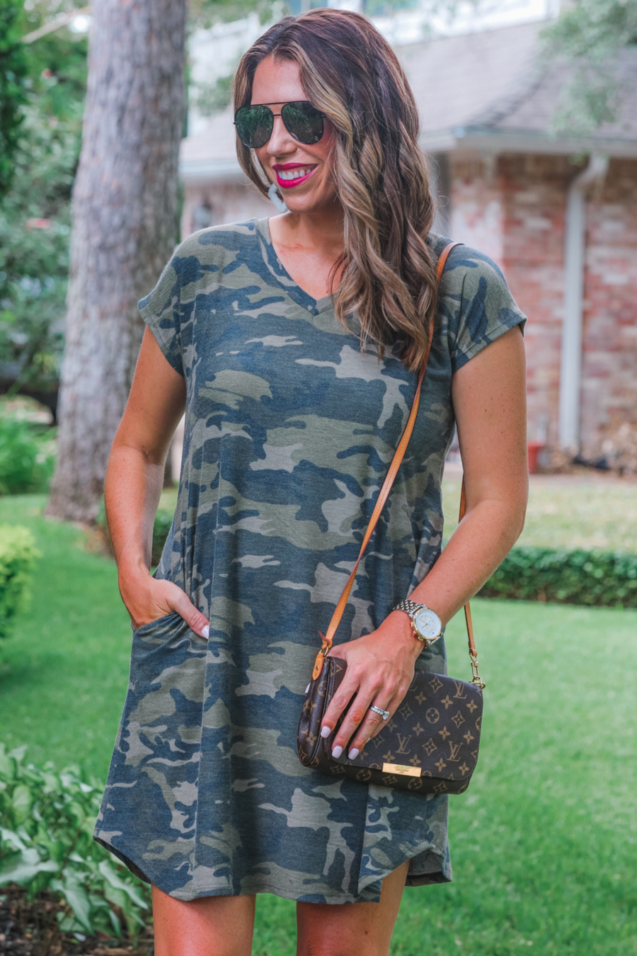 Cassie Camo Pocket Dress (Jess)