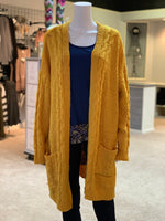 Load image into Gallery viewer, Chenille Cable Knit Cardigan (Front)