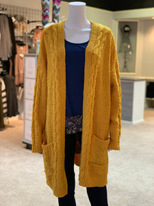 Chenille Cable Knit Cardigan (Front)