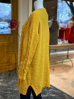 Load image into Gallery viewer, Chenille Cable Knit Cardigan (Side)