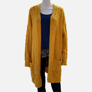 Chenille Cable Knit Cardigan (Main)