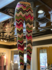 Chevron Pattern Print Leggings (Back)