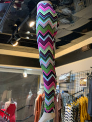 Chevron Pattern Print Leggings (Side)
