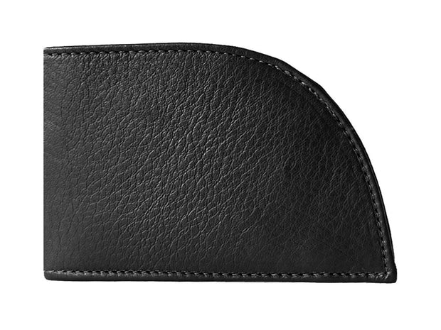 3-Slot Classic Leather Wallet (Black)