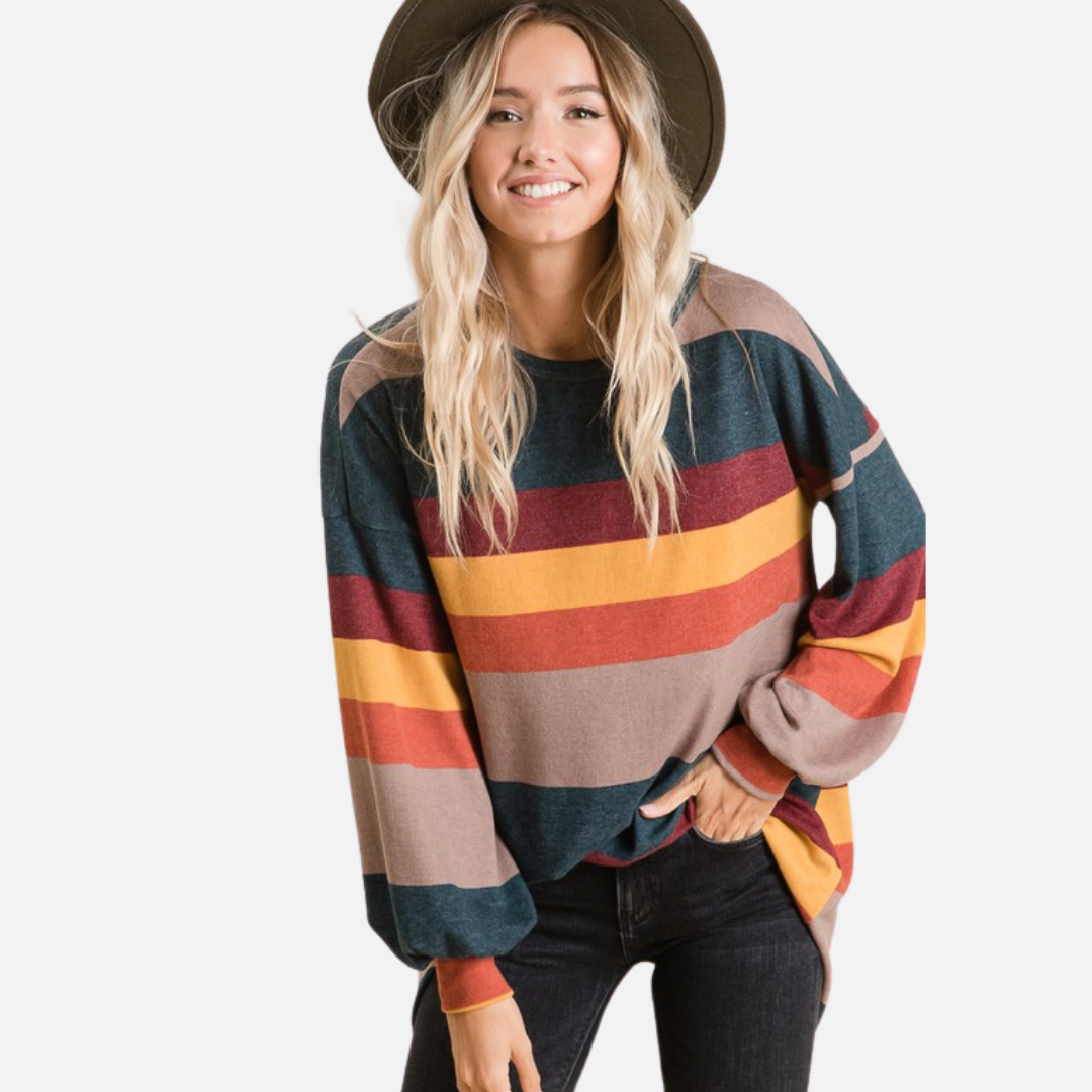 Color Block Stripe Top (Main)