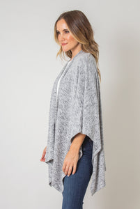 Cozy Heathered Bordeaux Wrap (Side)